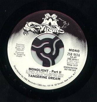 Tangerine Dream Monolight Hobo March